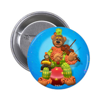 Dinky Bears Clown & Mr. Zippy Button