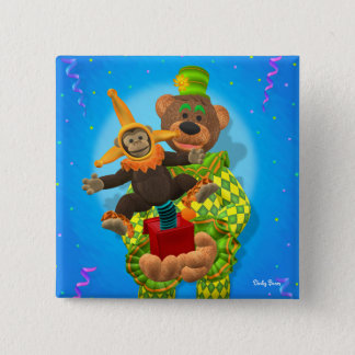 Dinky Bears Clown & Mr. Zippy in the Box Pinback Button