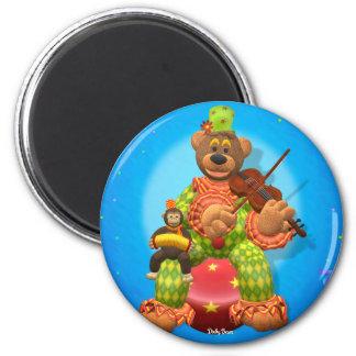 Dinky Bears Clown & Mr. Zippy 2 Inch Round Magnet