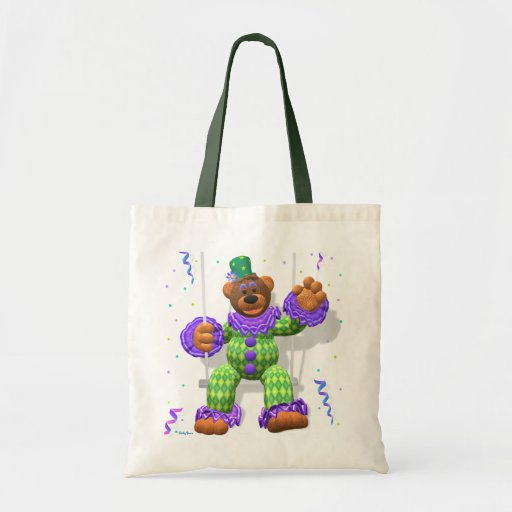 Dinky Bears Clown on Trapeze Budget Tote Bag
