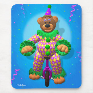 Dinky Bears Clown on Unicycle Mouse Pad