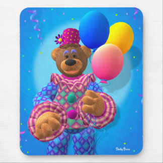 Dinky Bears Clown with Balloons Mouse Pad