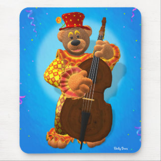 Dinky Bears Clown with Bass Mouse Pad