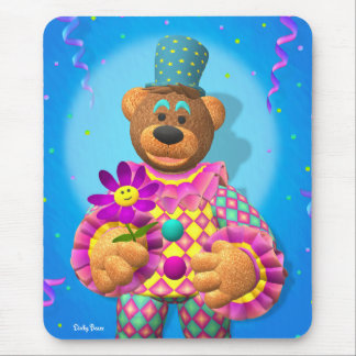 Dinky Bears Clown with Flower Mouse Pad