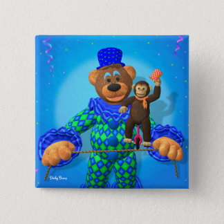 Dinky Bears Clown with his little friend Pinback Button