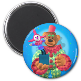Dinky Bears Clown with Jack in the Box 2 Inch Round Magnet