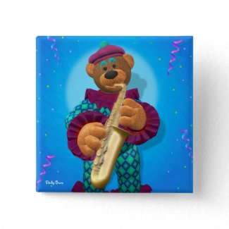 Dinky Bears Clown with Saxophone