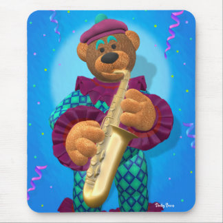 Dinky Bears Clown with Saxophone Mouse Pad