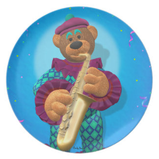 Dinky Bears Clown with Saxophone Plate