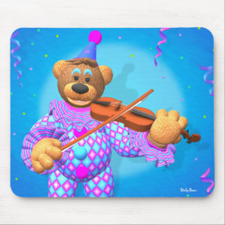 Dinky Bears Clown with Violin Mouse Pad