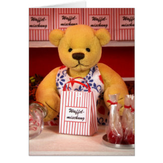 Dinky Bears: Confectioner's Lady Card