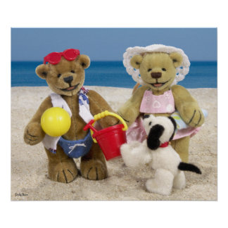 Dinky Bears: Day at the Beach Poster