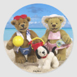 Dinky Bears Day at the Beach Stickers
