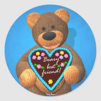 Dinky Bears Dearly Tidings 2 Classic Round Sticker