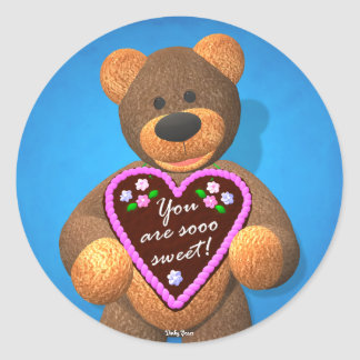 Dinky Bears Dearly Tidings 5 Classic Round Sticker