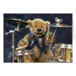 Dinky Bears Drummer Greeting Card