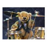 Dinky Bears Drummer Post Card