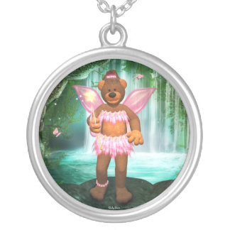 Dinky Bears Enchanting Fairy Round Pendant Necklace