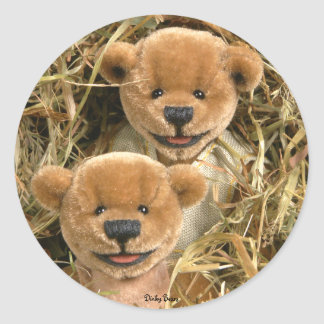 Dinky Bears Farmer Kids Classic Round Sticker
