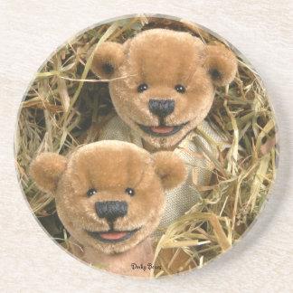 Dinky Bears Farmer Kids Drink Coaster