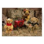 Dinky Bears: Farmer Kids Greeting Card