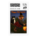 Dinky Bears Flying Witch Postage Stamps