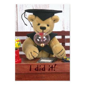 Dinky Bears: Graduation 5x7 Paper Invitation Card