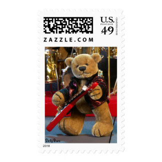 Dinky Bears Guitarist Postage Stamps