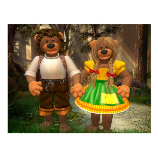 Dinky Bears Hansel and Grethel Postcard