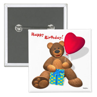 Dinky Bears: Happy Birthday! Pinback Buttons