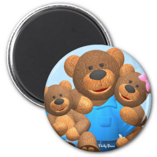 Dinky Bears: Happy Family 2 Inch Round Magnet