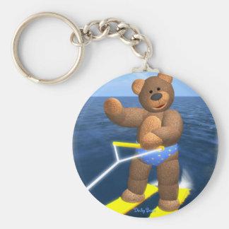Dinky Bears Holiday Fun Basic Round Button Keychain