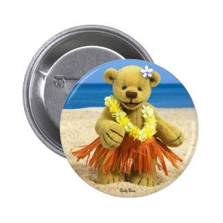Dinky Bears Hula Dancer Pinback Button