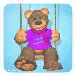 Dinky Bears: I feel great! sticker
