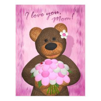 Dinky Bears: I love you Mom Postcard