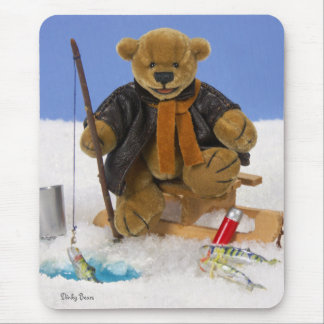 Dinky Bears Ice Fishing Mouse Pad