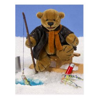 Dinky Bears Ice Fishing Post Cards