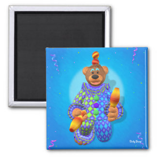 Dinky Bears juggling Clown 2 2 Inch Square Magnet