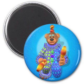 Dinky Bears juggling Clown 2 2 Inch Round Magnet