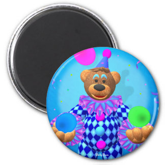 Dinky Bears juggling clown 2 Inch Round Magnet