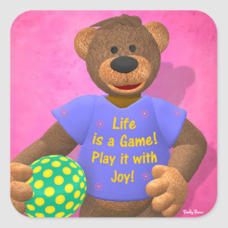 Dinky Bears: Life is a Game Square Sticker