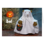 Dinky Bears Little Ghost Greeting Card