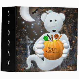 Dinky Bears Little Ghost with Goodies Binder