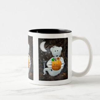 Dinky Bears Little Ghost with Goodies Two-Tone Coffee Mug