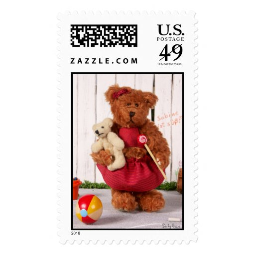 Dinky Bears: Little Girl Postage Stamp