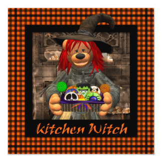 Dinky Bears Little Kitchen Witch Card