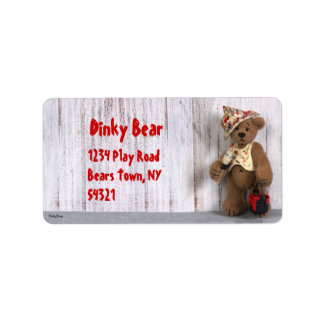 Dinky Bears Little Painter Label