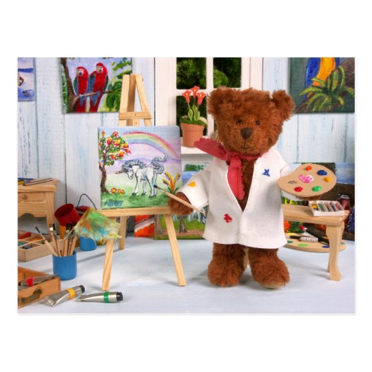 Dinky Bears: Little Painter Postcard