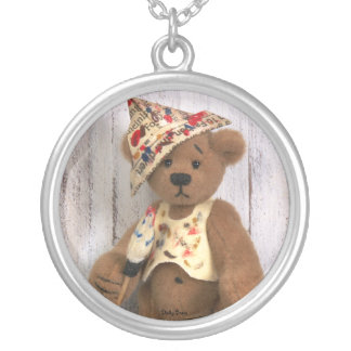 Dinky Bears Little Painter Silver Plated Necklace