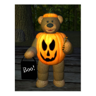 Dinky Bears Little Pumpkin Boy Postcard